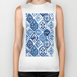 Arabesque tile art Biker Tank