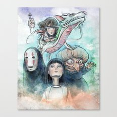 Spirited Away Watercolor Painting Canvas Print
