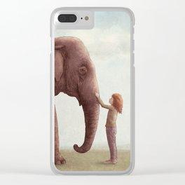 One Amazing Elephant Clear iPhone Case