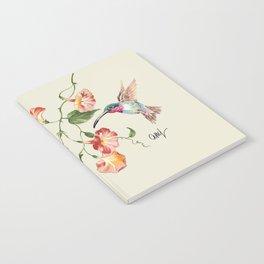 hummingbirds & morning glories Notebook