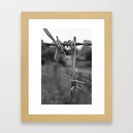 Fence of steel Framed Art Print