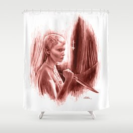Homage to Rosemary's Baby Shower Curtain