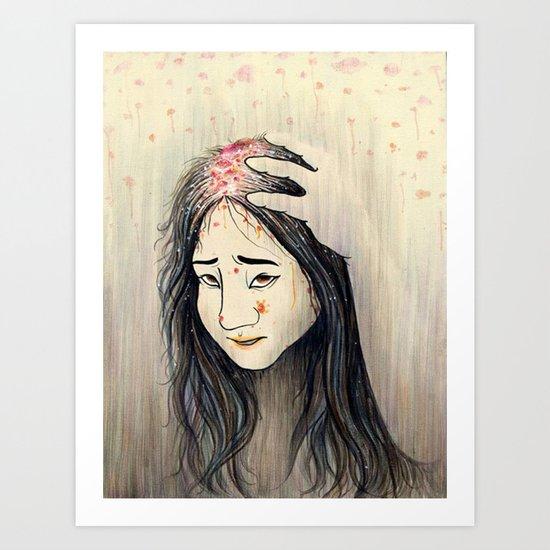 Unwashed hair Art Print