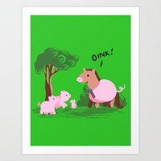 Pig? Art Print