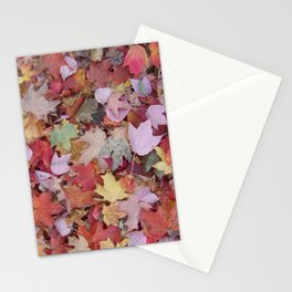 red maple medley Stationery Cards