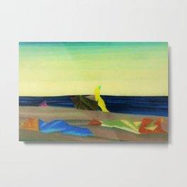 Sunbathers on the Beach by Lyonel Feininger Metal Print