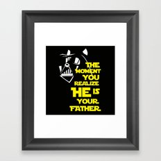 Vader Spoiler Framed Art Print