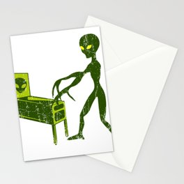 GAMING PINBALL Alien Sci-Fi Space Gift UFO Lover Stationery Cards
