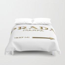 Golden PradaMarfa sign Duvet Cover