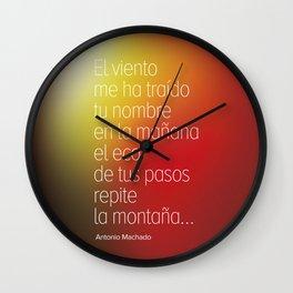 Poetry #2 Antonio Machado Wall Clock