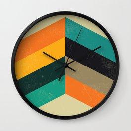 Mid Century Chevron Art Wall Clock