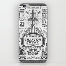 Legend of Zelda Vintage Master Sword Advertisement iPhone & iPod Skin