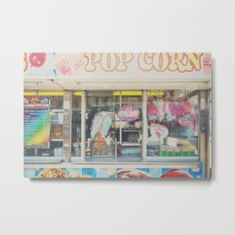 Cotton Candy & carnival food ... Metal Print