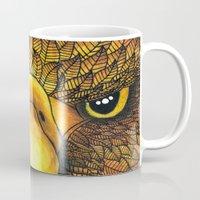 phoenix Mugs featuring Phoenix by J Bradford Illustration