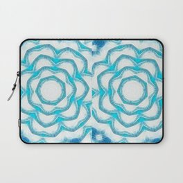 Cyan Glow Kaleidoscope 18 Laptop Sleeve