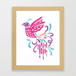 Boho Bird Framed Art Print