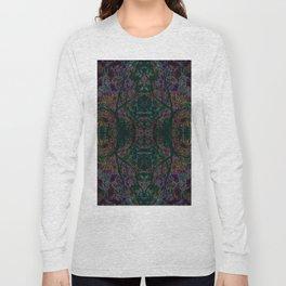 Emerald tree geometry VIII Long Sleeve T-shirt