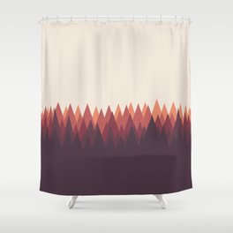 The Forest - Abstract Triangles Geometric Minimal Clean, wildlife t shirt Shower Curtain