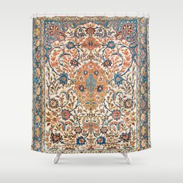 Isfahan Antique Central Persian Carpet Print Shower Curtain