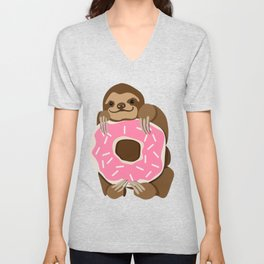 Because Sloths AND Donuts Unisex V-Neck