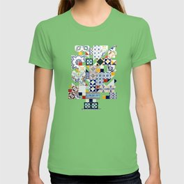 Azulejo collage T-shirt