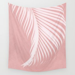 Palm Leaves on Pink I Wall Tapestry