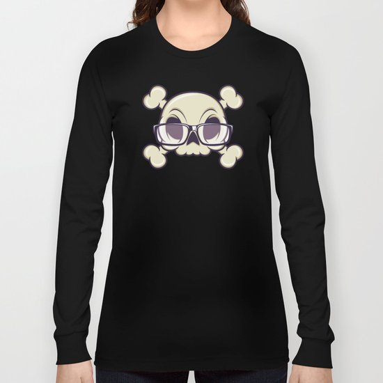 Nerd Skull Long Sleeve T-shirt