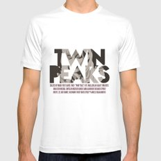 Twin Peaks Poster Mens Fitted Tee 2X-LARGE White