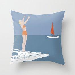 Stessa spiaggia stesso mare Throw Pillow