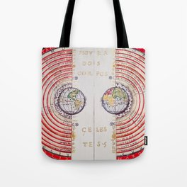 Vivid Ancient Map Tote Bag