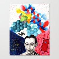 pee wee Canvas Prints featuring pee wee herman by deanna kelii
