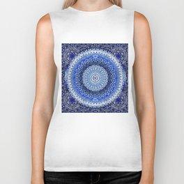 Cobalt Tapestry Mandala Biker Tank