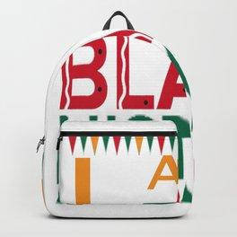 I Am Black History Month African American Black Pride T-Shirt Backpack