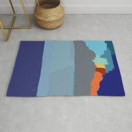 Abstract landscape French Riveria Rug