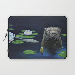 The River Otter by Teresa Thompson Laptop Sleeve