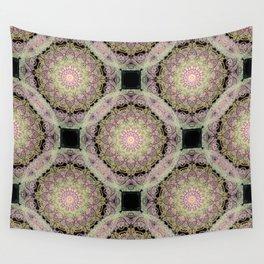 mandala pattern on the dark background Wall Tapestry