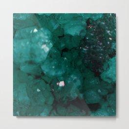 Emerald Drusy Metal Print