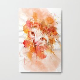 Arthur the cat Metal Print