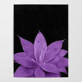 Purple Agave #1 #tropical #decor #art #society6 Poster