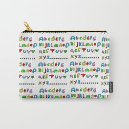 alphabet2-alphabet,letters,child,language,fun,abc,abcdefg,symbols,abecedarium,script,write,writing Carry-All Pouch