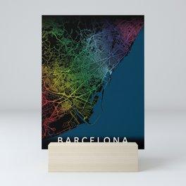 Barcelona City Map Mini Art Print