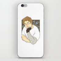bucky barnes iPhone & iPod Skins featuring Bucky Barnes by maria euphemia