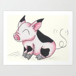 Pudgy Piglet Art Print