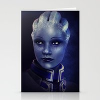 mass effect Stationery Cards featuring Mass Effect: Liara T'soni by Ruthie Hammerschlag