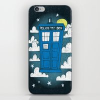 tardis iPhone & iPod Skins featuring blue box by Matthew Taylor Wilson