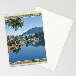 BLUE STILL MORNING SHORELINE Stationery Cards