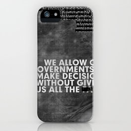 The Facts iPhone Case