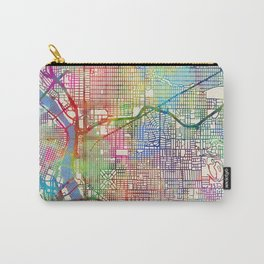 Portland Oregon City Map Carry-All Pouch