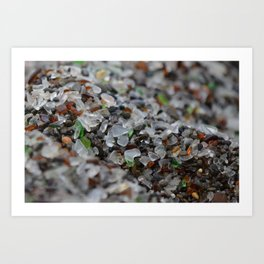 glass beach #3 Art Print