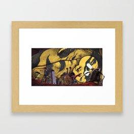 Until it sleeps. Framed Art Print